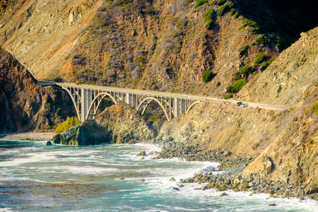 Highway 1 on the pacific coast, California. Stock Photo