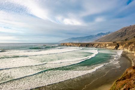 sand dollar: USA Pacific coast landscape, Sand Dollar Beach, Big Sur, California.