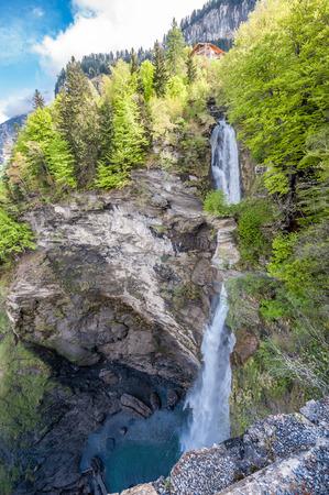 Reichenbach falls landscape at Swiss Alps, Switzerland Stock Photo