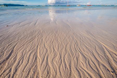 destination scenics: Beach at morning. Boracay, Philippines.