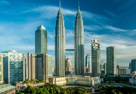overlook: Kuala Lumpur skyline overlook, Malaysia Editorial
