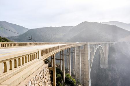 coastal: Bixby Creek Bridge on Highway 1. Big Sur Area, California, USA. Stock Photo