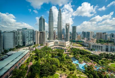 overlook: Kuala Lumpur skyline overlook, Malaysia Stock Photo