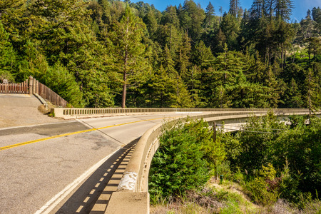 natural bridge state park: Highway 1 on the pacific coast, California, USA. Stock Photo