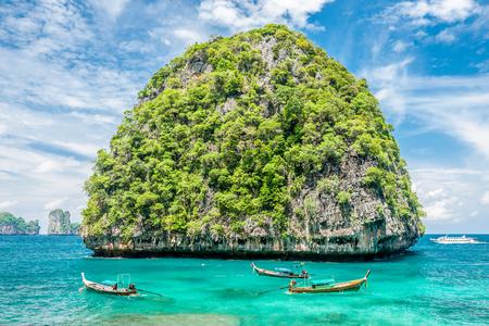 uninhabited: Beautiful uninhabited rocky island in Thailand