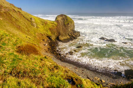 shorelines: USA Pacific coast landscape, Oregon State