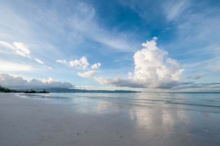 destination scenics: Sky above beach at Boracay, Philippines