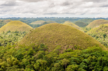 Chocolate hills landscape at Bohol, Philippines