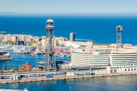 overlook: Port Vell overlook, Barcelona, Catalonia, Spain