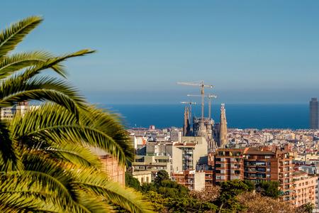 overlook: Barcelona cityscape overlook from Park G?ell