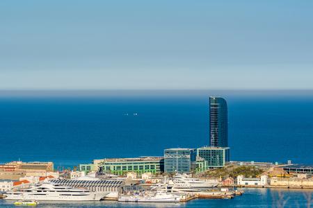 overlook: Barcelona coast overlook, Catalonia, Spain Editorial