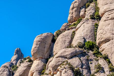 Mountains around the monastery of Santa Maria de Montserrat (Montserrat Monastery) in Catalonia, Spain