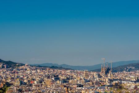 overlook: Barcelona cityscape overlook from Montjuic