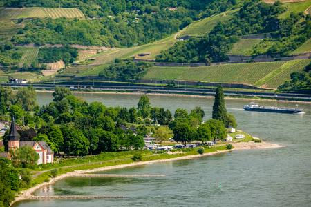 Vineyards at Rhine Valley (Rhine Gorge) in Germany