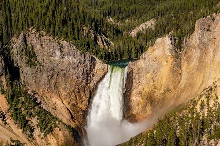 Lower Falls waterfall in the Grand Canyon of Yellowstone National Park, Wyoming, USA