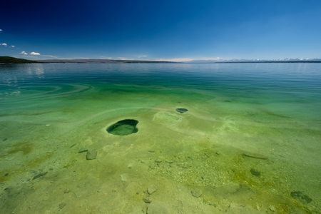 Hot thermal spring in Yellowstone Lake, West Thumb Geyser Basin area, Wyoming, USA