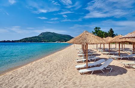 Beautiful beach in Toroni, Sithonia, Greece