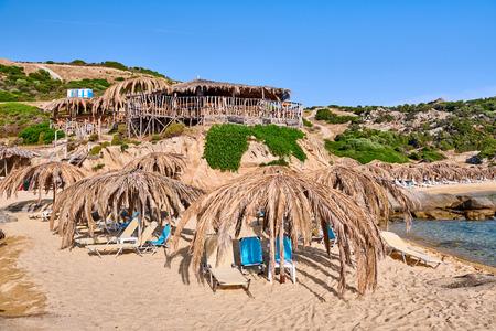 Beautiful beach and rocky coastline landscape, Sithonia, Greece Reklamní fotografie