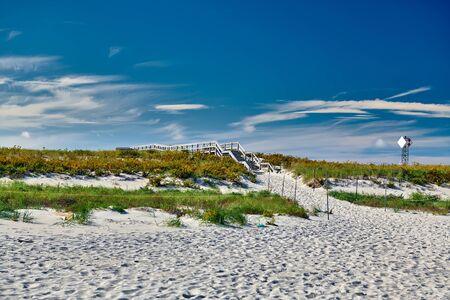 Access trail to Crane beach, Ipswich, Massachusetts, USA