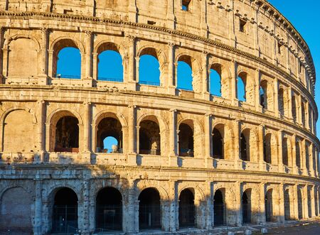 Colosseum at morning in Rome, Italy
