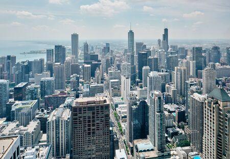 Vue aérienne de la ville de Chicago, Illinois, États-Unis Banque d'images