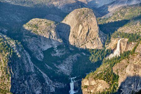 Yosemite National Park Valley summer landscape from Glacier Point. California, USA. Imagens