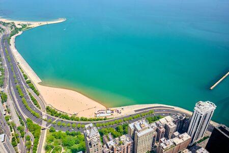Chicago city aerial view, Illinois, USA