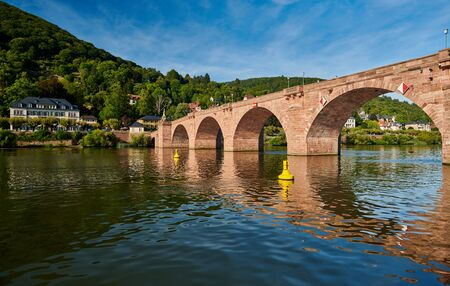 Heidelberg town on Neckar river in Germany  Stok Fotoğraf