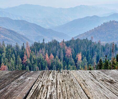 Sequoia National Park mountain scenic landscape at autumn. California, United States.