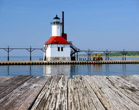 St. Joseph North Pier Inner Light, built in 1907, Lake Michigan, MI, USA
