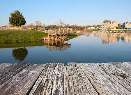 Marina on Lake Huron at Port Austin, MI, USA Imagens
