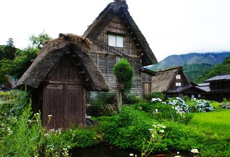 Traditional Japanese Home Style in historic village Shirakawa-go, Gifu prefecture, Japan