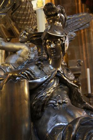 vitus: The Statue inside St. Vitus Cathedral  in Prague, Czech Republic Editorial