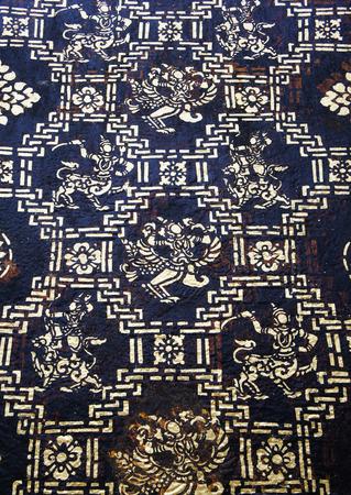 ornately: Theravada Buddhism delicately decorated pillars of black and gold Wat Mai temple Souvannaphoumaham Luang Prabang Lao