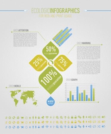 ecologic: Ecologic elementos infogr�ficos para la web y el uso de impresi�n