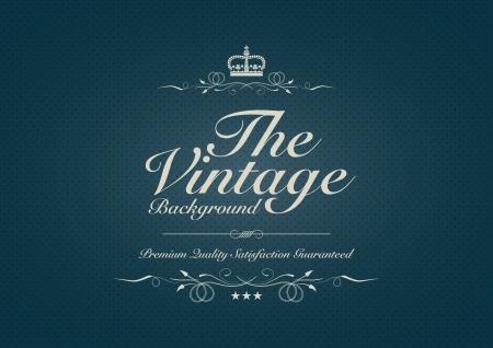 entwine: sfondo blu vintage con testo speciale Vettoriali