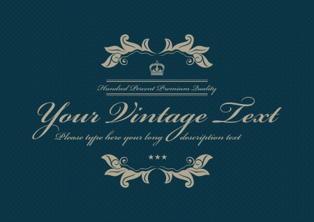 blue doted vintage background Vector