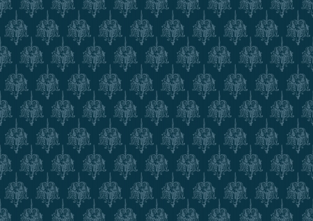 blue vintage background pattern Vector