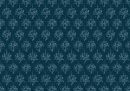 blue vintage background pattern Illustration