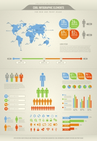 information graphics: cool infographic elements for the web and print usage Illustration