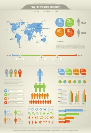 visualize: fresco elementi infografica per il web e l'utilizzo di stampa