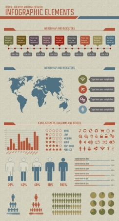 cool infographic Vector