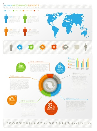 Humane infogeaphics elements for web and print usage