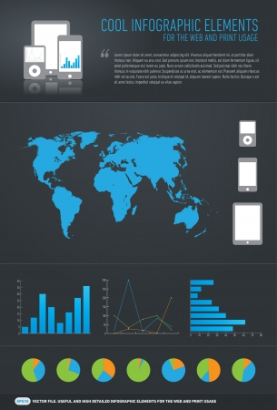 cool infographic elements for the web and print usage Illustration