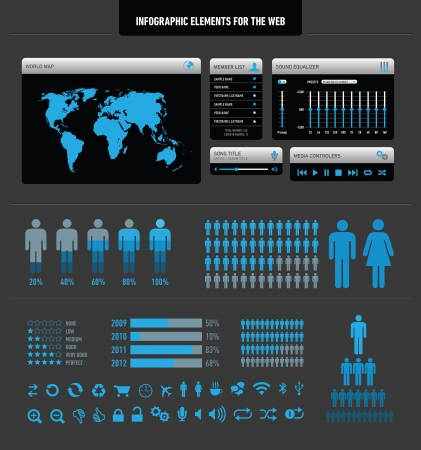Infographic elements for the web