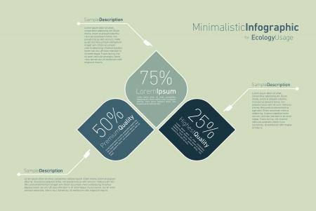 visualize: infografica minimalista per l'utilizzo eclology