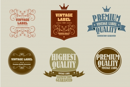 old style vintage sticker Vector