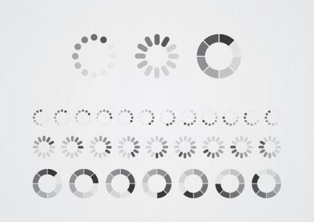 Collection of modern preloaders  Illustration