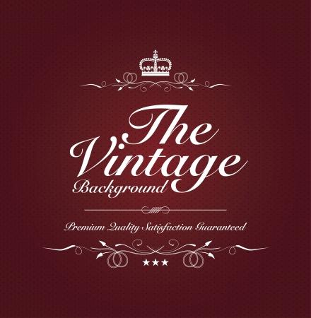 entwine: sfondo rosso vintage con testo speciale Vettoriali