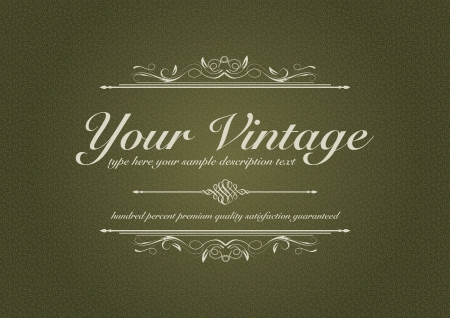 texturized: Texturized vintage background with ornament